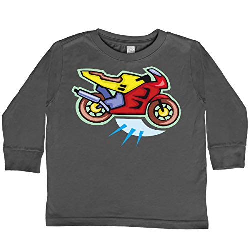 inktastic Crotch Rocket Motorcycle Toddler Long Sleeve T-Shirt 4T Charcoal 99f