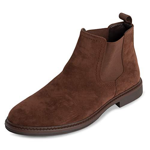 Queensberry Londen Chelsea laarzen voor heren, elastisch, Chelsea werk, kantoor, gesloten tenen genageld, brogue, gevoerde laarzen