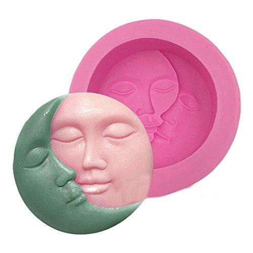 September Stampo in silicone, con motivo sole e luna, per creare saponette, caramelle, torte o cioccolatini