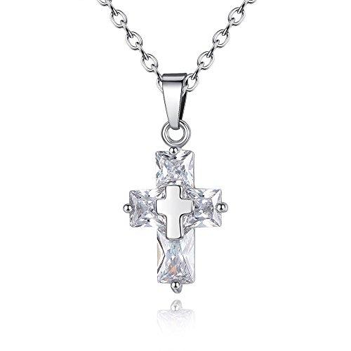 Colgante de cruz de circonita, para hombres y mujeres, universal, regalo de Navidad