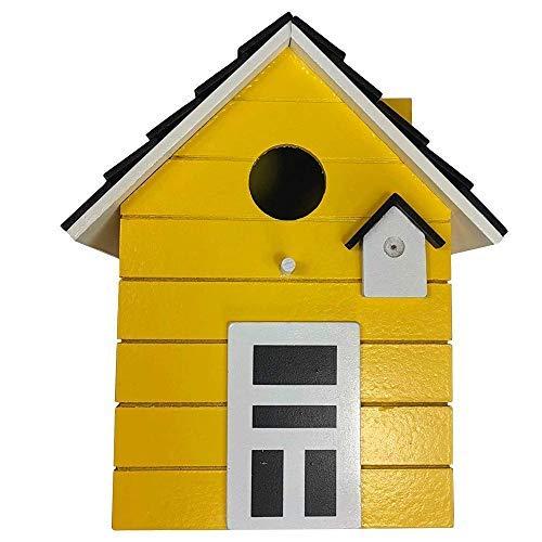 CasaJame Maison Ameublement Accessoires Jardinage Décoration Jardin Nichoir pour Oiseaux Jaune 17x12x20cm