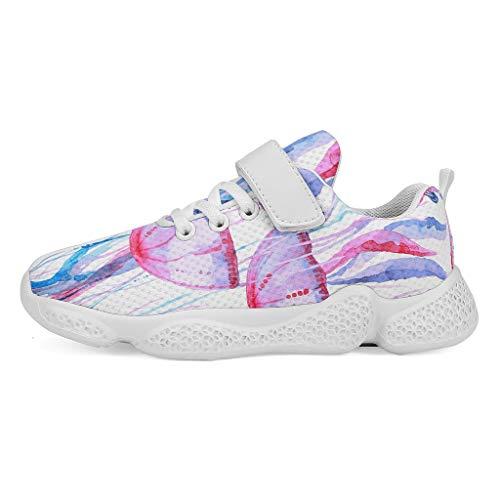 JEFFERS - Zapatillas de deporte para mujer, color rosa, Infantil, blanco, 35