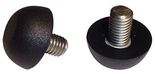 Stainless Steel -Screw in Feet Glide Leveler for Patio Furniture | Black | Quantity of 16 (8mm x 1.25 Thread)