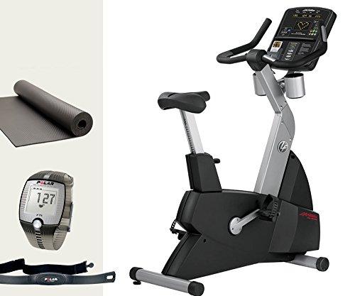 Life Fitness Club Serie Lifecycle Sitzergometer CSLU - inkl. FT1 Polar Pulsuhr, Brustgurt und Bodenmatte