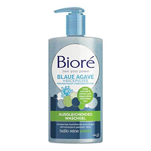 Bioré - Gel detergente equilibrante con agave blu e bicarbonato per pelli miste, 200 ml