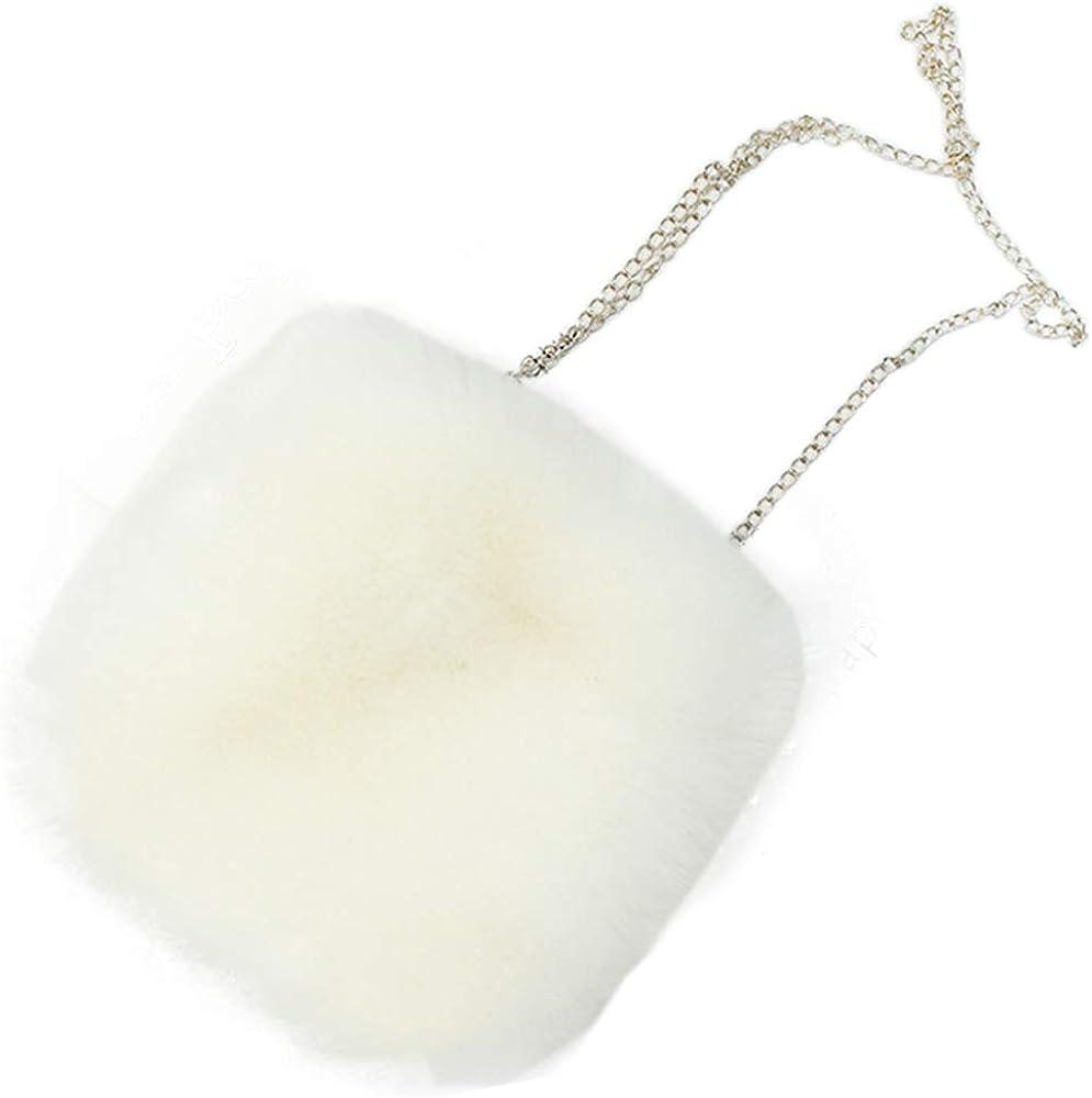 Faux Fur Purse Fuzzy Handbags for Women Evening Handbags Al alloy Shoulder Strap