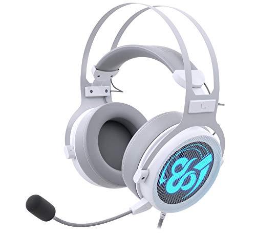 Auriculares Gaming Newskill Kimera V2 Ivory 7.1 Compatibles con PC y PS4 en Color Blanco