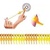 Muium(TM) 20 Stück Schleuder Huhn Strecken Fliegende Hühner Neuheit Katapult Huhn Lustig Finger Dehnbar Huhn Fliegendes Huhn, Stretch Huhn Spielzeug Gummitiere Stretch Hühner, Gummi Huhn Flick Huhn
