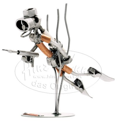 Taucher Schraubenmännchen Schweissfigur der besonderen Art und ideales Männergeschenk Design von Hinz & Kunst