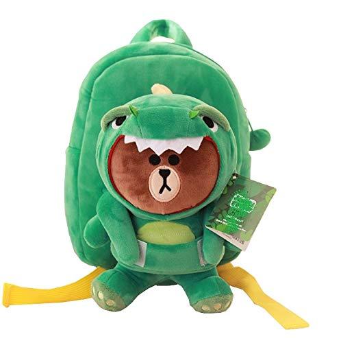 Appiu Cartoon cute detachable plush toy doll backpack, dinosaur school bag, gift backpack, snack bag (Color : 1)