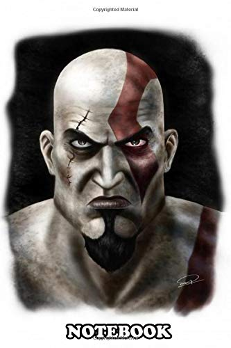 Notebook: A Cool Fan Art Of Kratos From Videogame God Of War , Journal for Writing, College Ruled Size 6