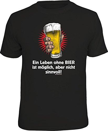 RAHMENLOS Original T-Shirt: EIN Leben ohne Bier ist möglich… -L, Nr.6442