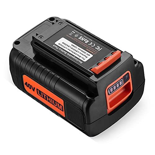 3000mAh LBX2040 Battery for Black and Decker 40V Battery LBXR2036 LBXR36 LST540 LCS1240 LBX1540 LST136W Black& Decker 40-Volt Lithium Replacement Battery