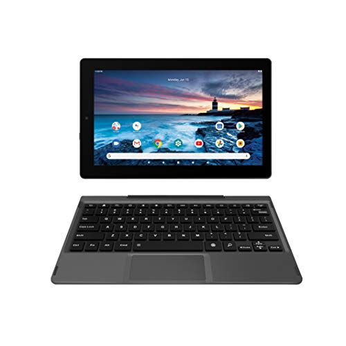 RCA 11 Delta Pro2 11.6 Inch Quad-Core 2GB RAM 64GB Storage IPS 1366 x 768 Touchscreen WiFi Bluetooth with Detachable Keyboard Android 10 Tablet Charcoal