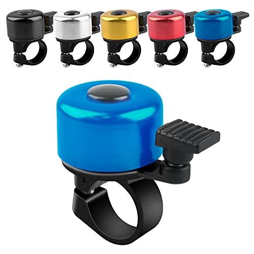 ADOGO Fahrradklingel, Fahrrad Klingel laut und klar, Fluminiumlegierung Fahrradglocke Laut für Mountainbike, Citybike, Rennrad, 22.2mm-22.8mm Lenker (Blau)
