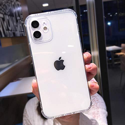 FQSCX Funda para iPhone Funda para teléfono Transparente a Prueba de Golpes para iPhone 12 11 11Pro MAX XR XS MAX Funda para teléfono Transparente de TPU Suave para iPhone XR XS MAX 6 7 8 Plus Fo