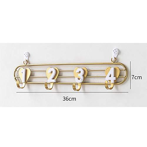 Sleutelhaken wandbehang, vrije stansdeur decoratie muur creatieve schattige kledinghaken metaal achter de deur