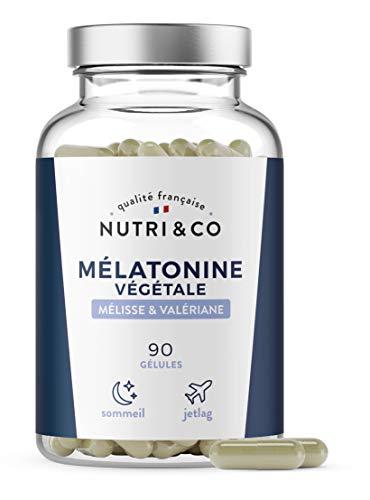 Mélatonine Végétale 1,9mg + Valériane + Mélisse BIO | Complexe Sommeil et Humeur | Endormissement Rapide | Alternative Naturelle au Somnifère | Jet Lag | 90 Gélules Vegan Made in France | Nutri&Co