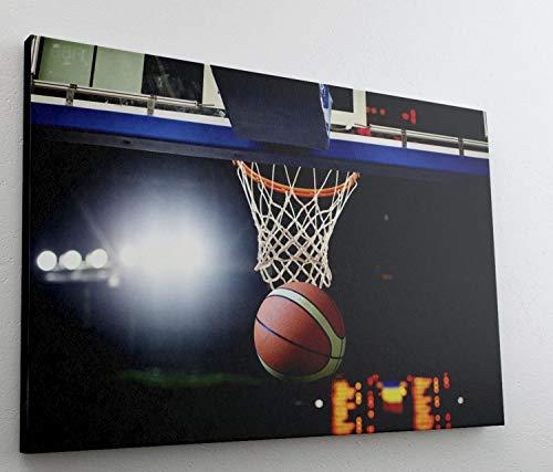 Basketball Korb Stadion Sport Leinwand Bild Wandbild Kunstdruck L0619 Größe 70 cm x 50 cm