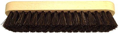 DELARA Cepillo lustrador Grande de Madera con hendiduras de Agarre; Suaves cerdas de Crin de Caballo Color: Negro
