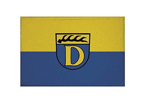 U24 Aufnäher Dettingen unter Teck Fahne Flagge Aufbügler Patch 9 x 6 cm
