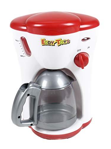 Eddy Toys Kinderspielzeug-Kaffeemaschine mit Licht, Wasserdurchlauf, An/Aus-Schalter mit Betriebsleuchte, Batteriebetrieb