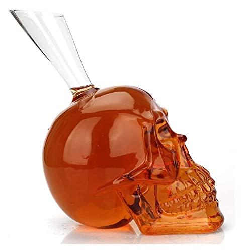 Skull Whisky 700ml Whiskey Sets Creative Halloween Skull Skull Botella de vino Spirit Vidrio Vodka Vino Contenedor de vinos Herramientas Juego de vidrio para hombres, Navidad, Cumpleaños Whisky Decant
