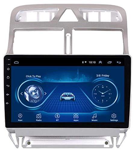 SSeir Autoradio Coche Navegación Estéreo Multimedia Player GPS Radio Android 10 IPS 2.5D Pantalla táctil para Peugeot