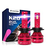 KOOMTOOM Mini LED H7 Lámparas para faros Kits - CREE Chips 360 ° Adjustable Beam 12000LM Beam (2x6000LM) 56W (2x28W) 6500K Xenon Blanco - 1 año de garantía