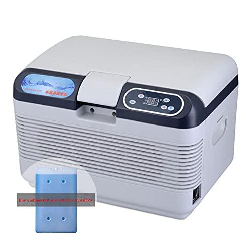 NOVHOME Mini Nevera Portatil, Refrigerador de Coche Mini Refrigerador de 12 Litros 12v / 22v Refrigerador PortáTil Con Congelador para Acampar (Comprar Refrigerador Liberarse Cristales de Hielo Caja)