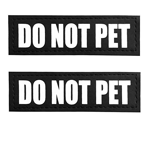 Fairwin Do Not Pet Dog Patches, Reflective Removable Dog Tags for Service Vest Dog Harness