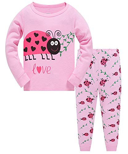 TEDD Mädchen Schlafanzug Baumwolle Süß Einhorn Langarm Zweiteiliger Schlafanzüge Set Kinder Nachtwäsche Winter Weihnachten Pyjama Größe 2-12 Jahre