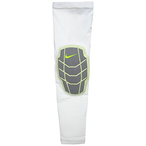 Nike Pro Combat Hyperstrong Elite Sleeve (L/XL, White/Volt)