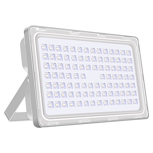 Viugreum 250W LED Flood Light Outdoor, Thinner and Lighter Design, Waterproof IP65, 25000LM, Daylight White (6000-6500K), Super Bright Security Lights, for Garden, Yard, Warehouse, Square, Billboard
