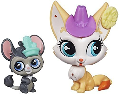 Littlest Pet Shop Roxy rotdington and Dusty West Figures by Hasbro