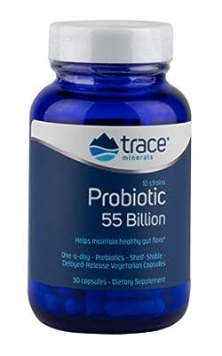 Trace Minerals Research 55 Billion Probiotic Capsules - Pack of 30 from Trace Minerals Research