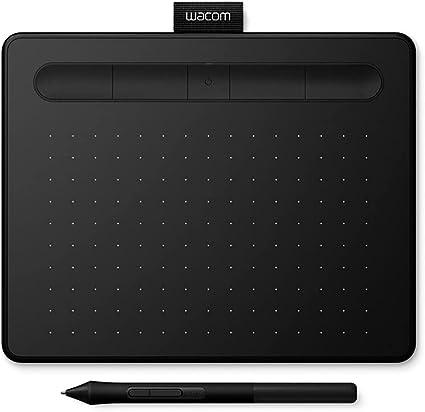 Wacom Intuos Medium Tableta Gráfica Bluetooth - tablet para dibujar, pintar, editar fotos con lápiz sensible a la presión negro - óptima para la educación en línea y el teletrabajo