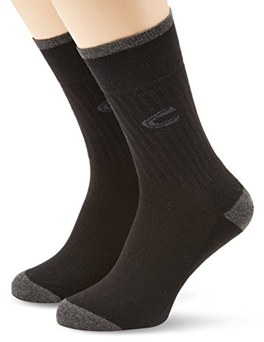 camel active Herren Socken 2 er Pack 6510 / camel active sportsocks 2 pack, Gr. 43-46, Schwarz (black 610)