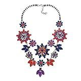 YAZILIND Mujeres Flor Collar declaración Bib Collar Elegante Traje Accesorios de joyería para Fiesta Diaria Prom