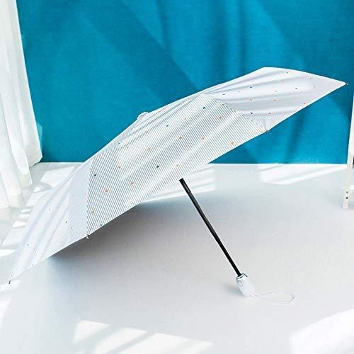 ZHANGYY Klappschirme, 8 Rippen Ergonomischer Griff Automatisches Öffnen und Schließen Leichter, robuster, automatischer Regenschirm Kompakter tragbarer Regenschirm mit Regenschirm-Aufbewah