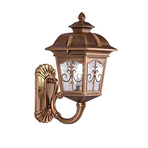 Zixin Aluminium Wandlampe, wasserdichte Gartenlampe, europäische Außenwandleuchte, geeignet for Villa Flur Balkon Loft Gartenhof usw. (Farbe: A) (Color : A)