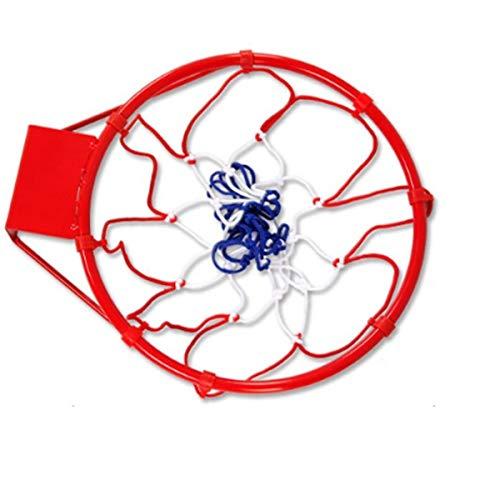 Nostalgie Estándar Caja de Baloncesto Interior y al Aire Libre Deportes de Lujo Baloncesto Blanco Red Duradero y Duradero para la Cesta estándar Reemplazo (Color : Red)