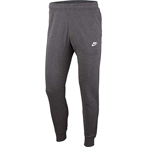 NIKE M NSW Club JGGR FT Pants, Charcoal Heathr/Anthracite/(White), M-T Mens