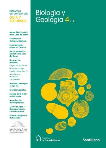 Guia Biología y Geología 4 Eso La Casa Del Saber Santillana - 9788429409765