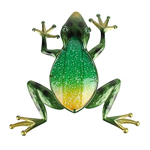 3°Amy Frog de Vidrio de Metal Ilustraciones de Arte para decoración de jardín Animales al Aire Libre Estatuas Esculturas para jardín en Miniatura (Color : Green)