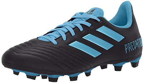 adidas Men's Predator 19.4 Firm Ground Soccer Shoe, Black/Bright Cyan/Solar Yellow, 8 M US