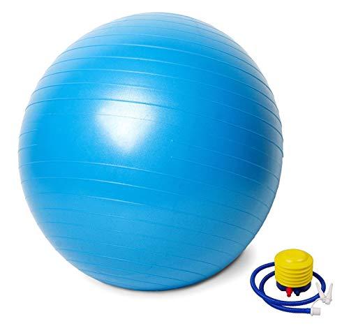 AFX Gymnastikball mit Pumpe, 75 cm, Blau