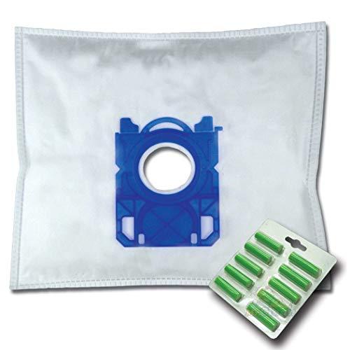 10 x Mr.Clean Staubsaugerbeutel + 10 Duftstäbe geeignet für AEG SilentPerformer ÖKO ASP7130 ASP 7130