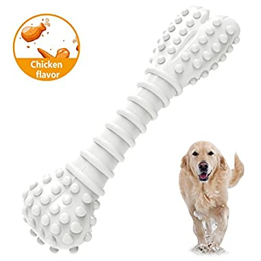 MOSTY Dog Chew Toys, Healthy Durable Indestructible Chewing Toys Textured Dog Chew Chicken flavor Bones for Small Large Dogs