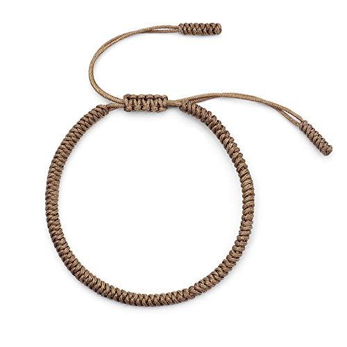 Tibetan Lucky Handmade Rope Bracelets for Men Women Friendship Braided Wish Rope Knot Bracelet